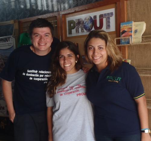 Diego Montaño Morales (Bolivia), Natalia Cerri Oliveira (Brasil) y Camila dos Santos (Brasil)