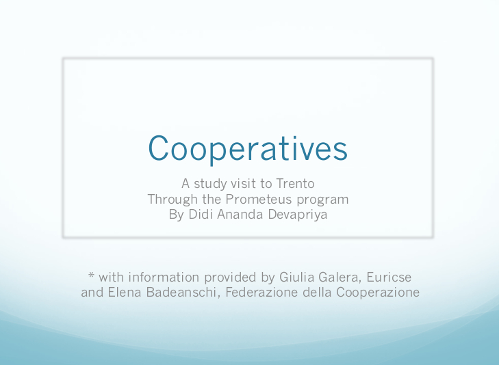 Cooperatives in Trento, Italy