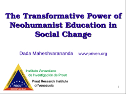Transformative Power of Neohumanist Education