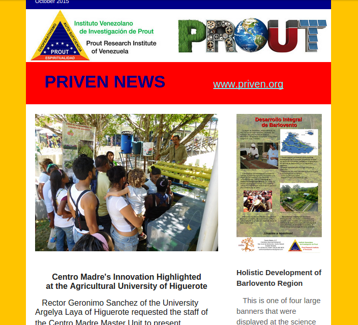 PRIVEN Newsletter Oct 2015