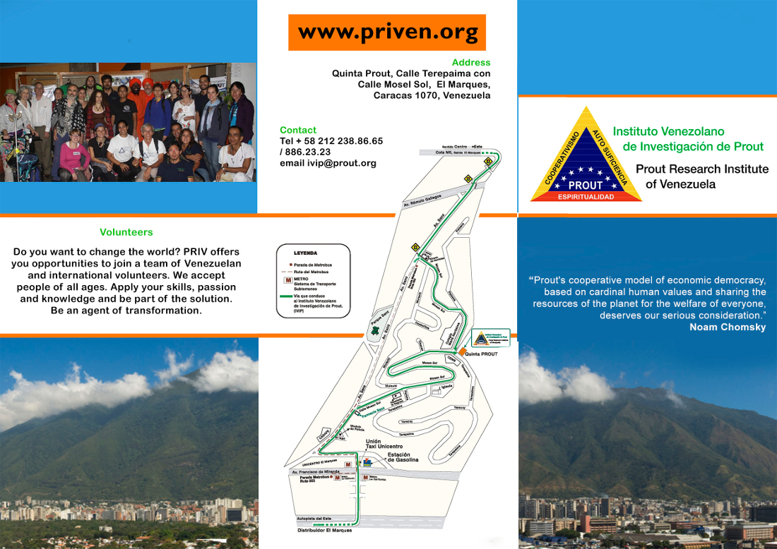 Prout Research Institute of Venezuela flyer